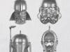Hallmark-Mini-Vader-Stormtrooper-Boba-Fett-C-3PO-Helmets-Keepsake-Ornaments
