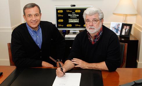 George Lucas Robert Iger Disney Lucasfilm
