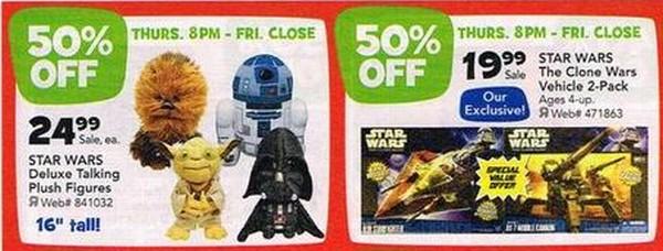 Toys-R-Us Black Friday Star Wars 2-packs and Plush
