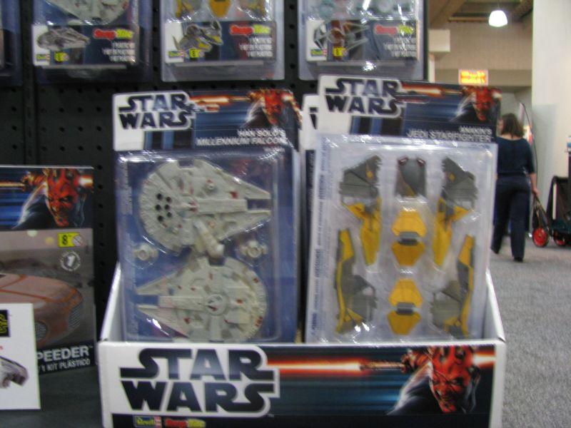 Revell Toy Fair 2013 Millennium Falcon and Jedi Starfighter