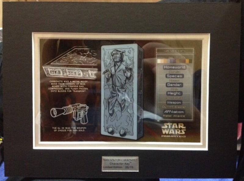 Acme Han Solo Carbonite Character Key