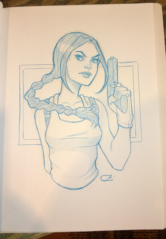 Chrissie Zullo Lara Croft Sketch