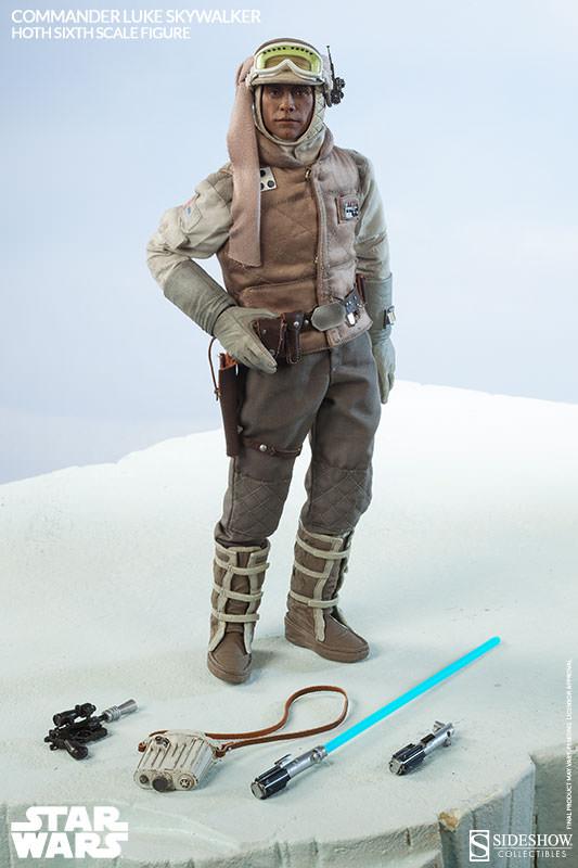 Sideshow 1//6 Scale Lightsaber /& Hilt from Commander Luke Skywalker Hoth Figure