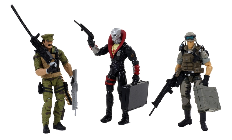 GI Joe 3-Pack Leatherneck Destro Hawk