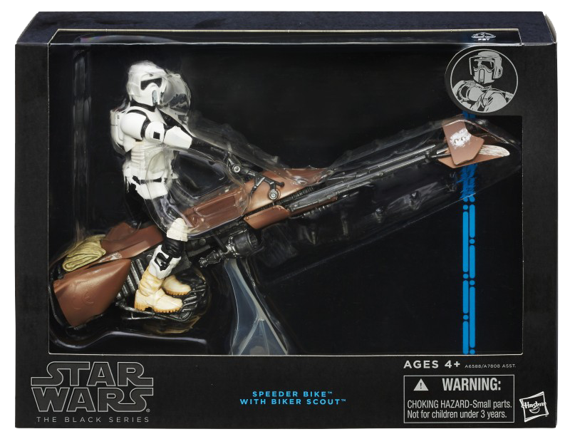 Black Series Deluxe Scout Trooper and Speeder Bike Boxed