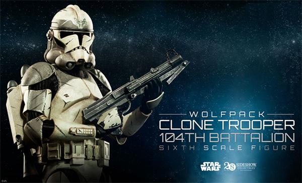 Sideshow Wolfpack Clone Trooper