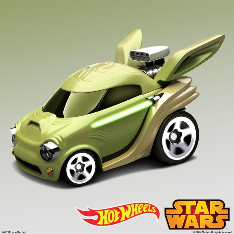Hot Wheels Yoda Character Car