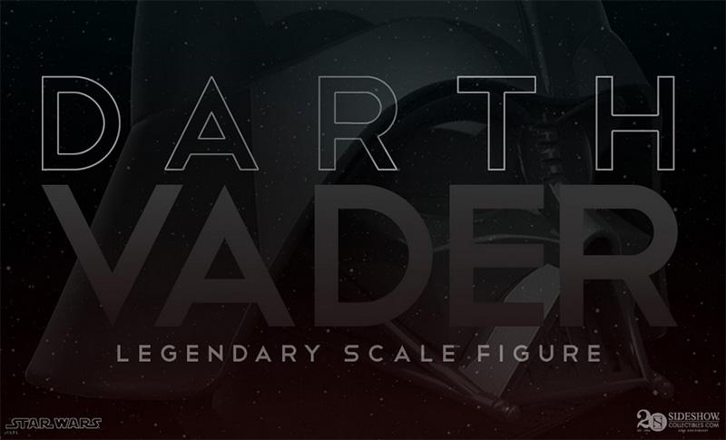 Sideshow Darth Vader Legendary Scale Teaser