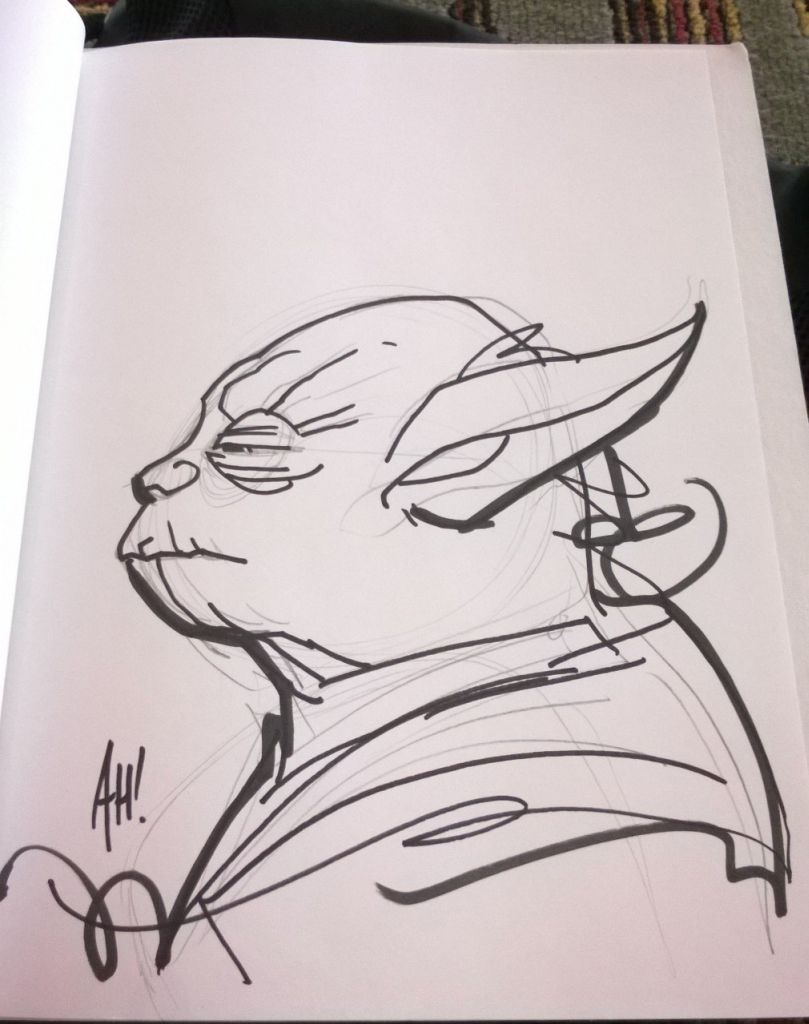 Adam Hughes - Yoda Artwork