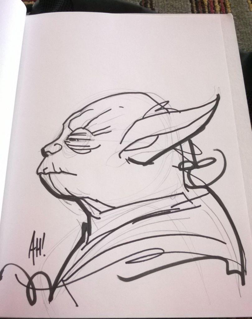 Adam Hughes - Yoda Artwork