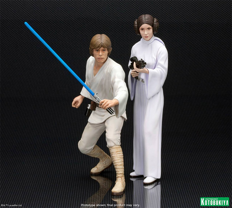 Kotobukiya Luke and Leia