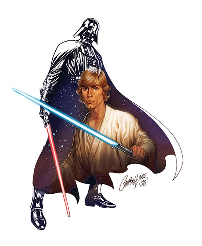 J. Scott Campbell - Vader and Luke