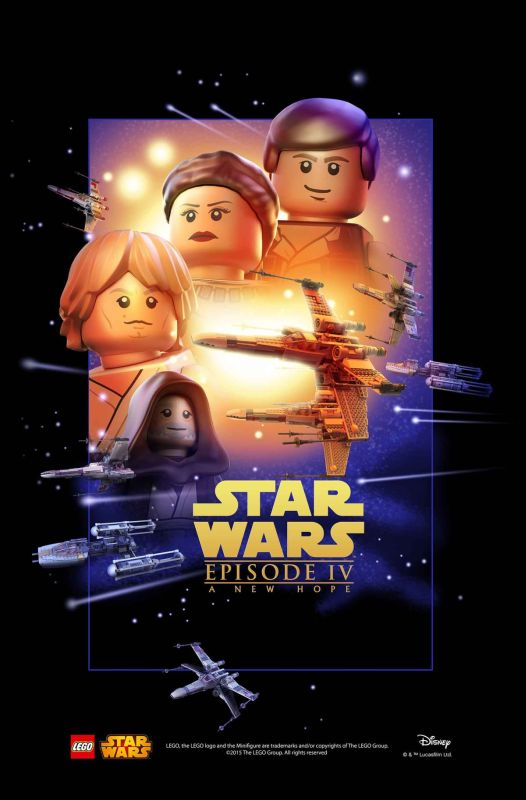LEGO Star Wars Movie Poster Episode 4