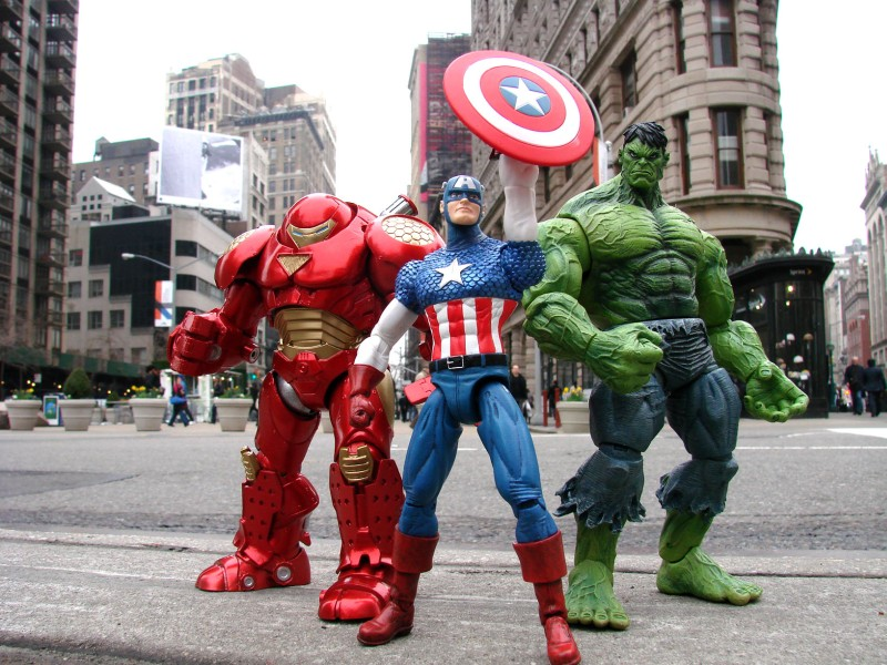 Marvel Select Hulkbuster Captain America Hulk Team up