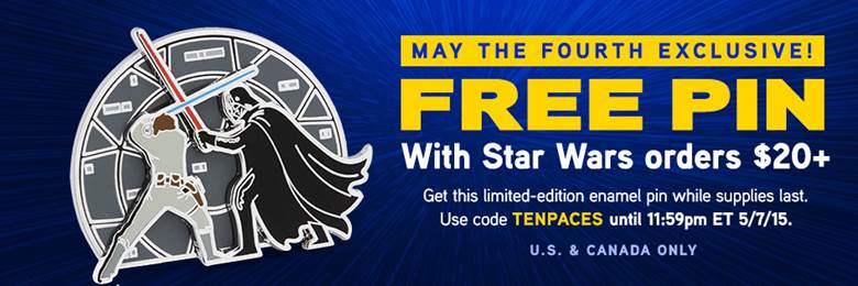 ThinkGeek May the 4th 2015 Pin Promo