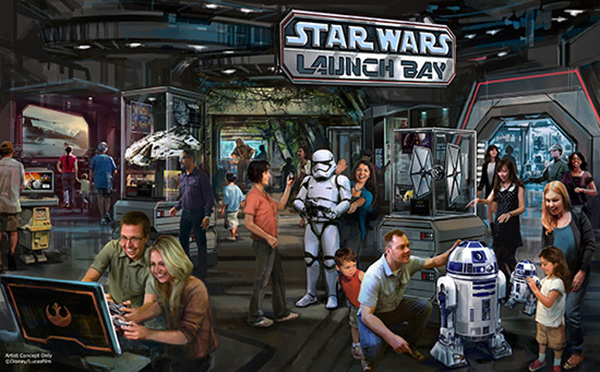 Disney Star Wars Launch Bay Concept Art