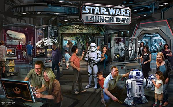 Disney Star Wars Launch Bay Concept Art