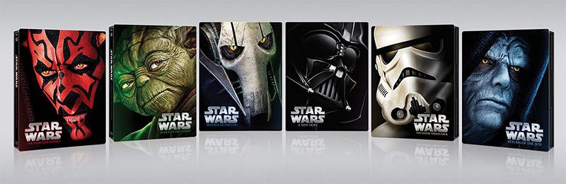Star Wars Saga Steelbooks