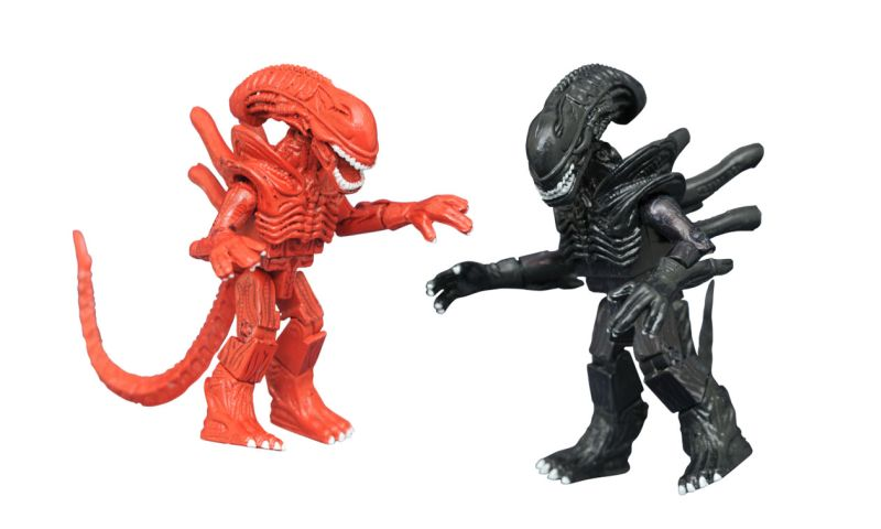 Hiveworld Red and Black Aliens