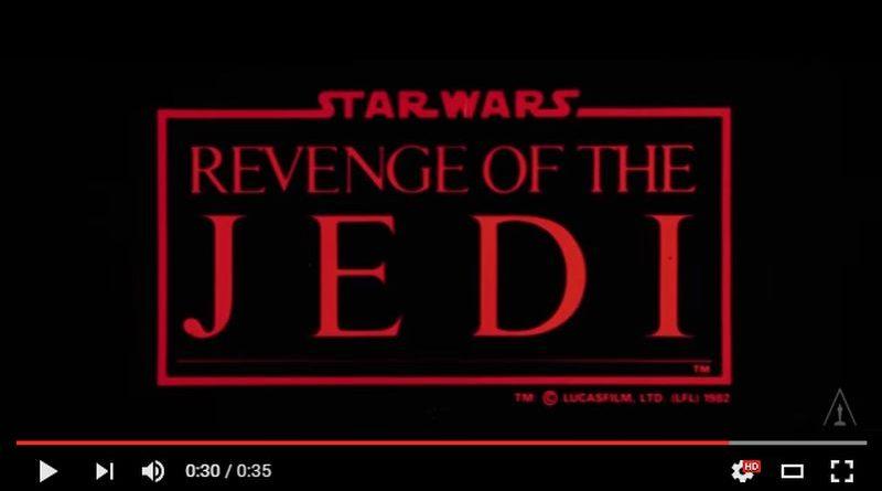 Revenge of the Jedi Movie Trailer Logo