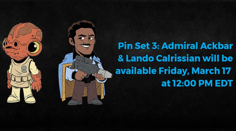 Star Wars Celebration Orlando 2017 Ackbar Lando Pins Banner