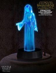 Holographic Princess Leia Statue