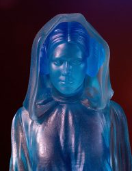 Holographic Princess Leia Statue Close-up