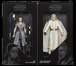 Luke Skywalker and Rey Boxed
