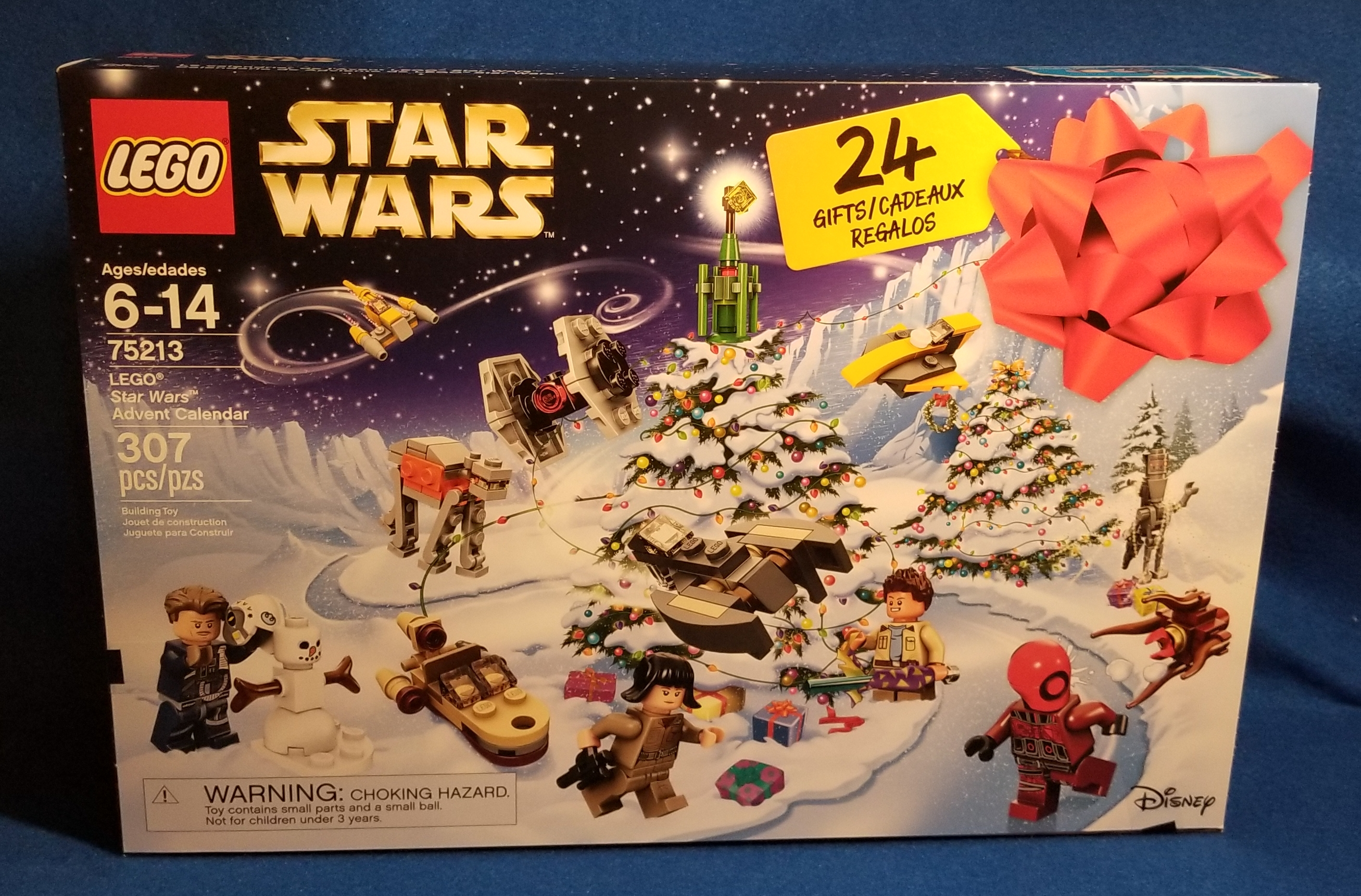 Lego 75213 Star Wars Advent Calendar 2018 with 307 pc Minifigures Ships From USA