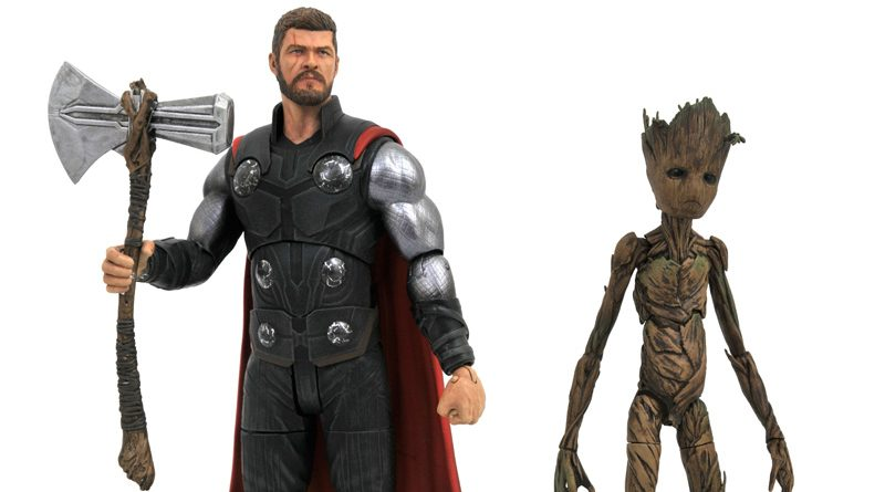 DST Marvel Select Thor Groot Banner