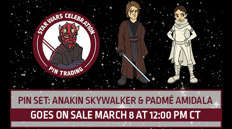 SWCC19 Pin Trading Anakin Padme Banner