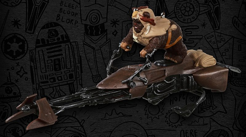Paploo on Speeder Bike Ornament Banner