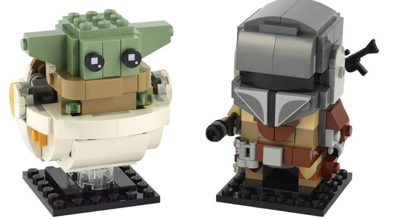 LEGO 75317 The Mandalorian And Child BrickHeadz Banner