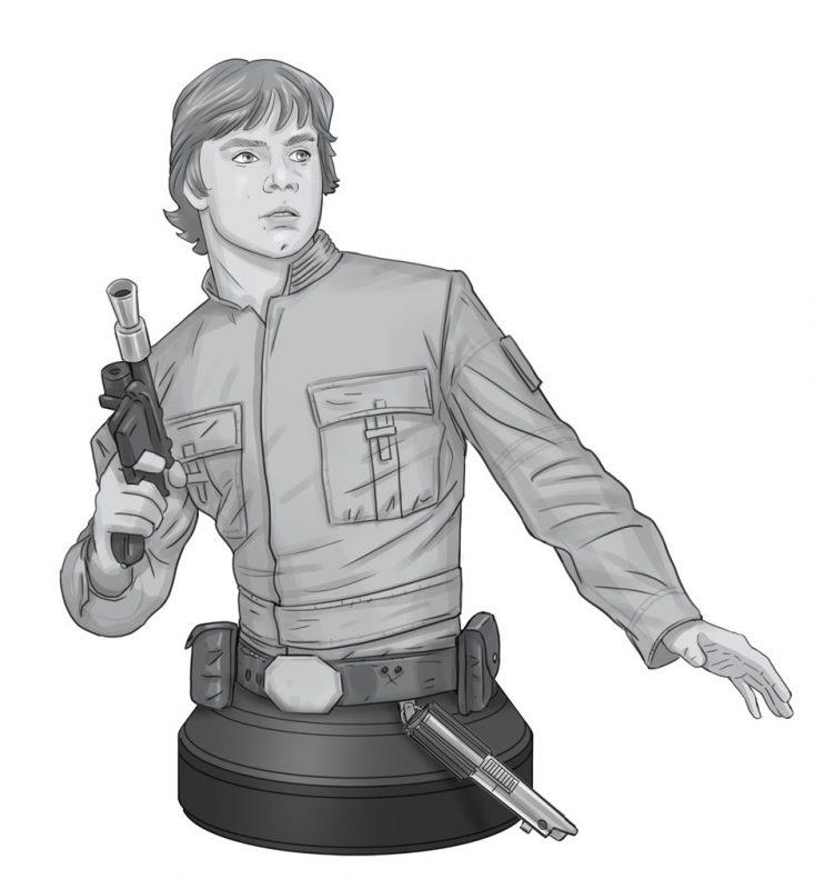 Gentle Giant Bespin Luke Skywalker Bust Concept Art
