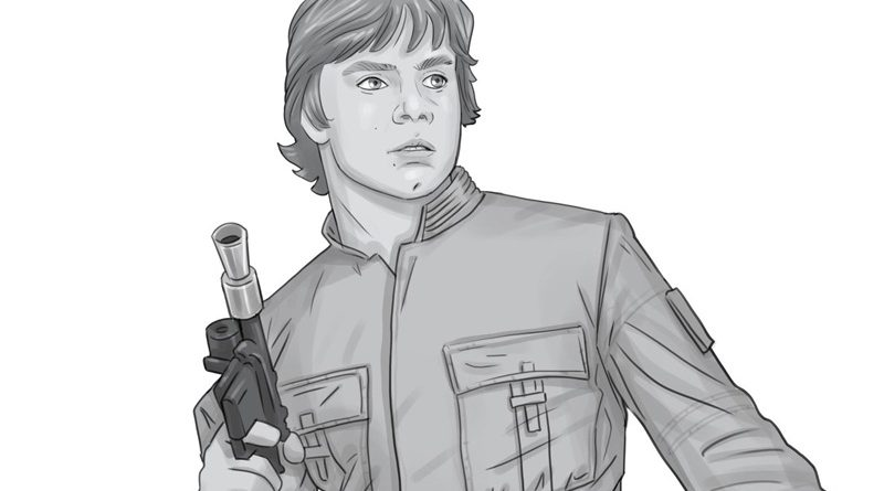 Gentle Giant Bespin Luke Skywalker Bust Concept Art Banner