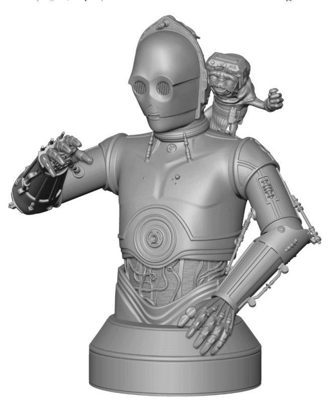 Gentle Giant C-3PO Babu Frik Bust