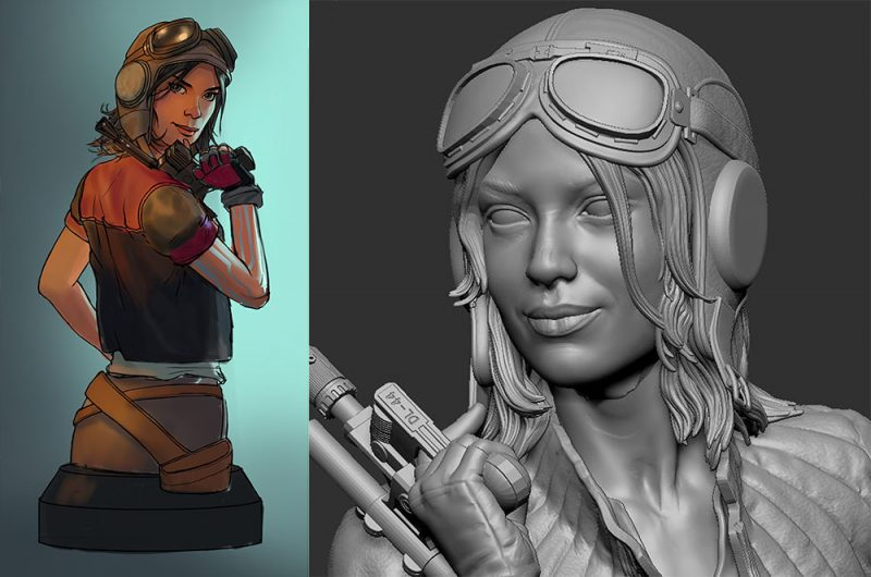 Gentle Giant Doctor Aphra Bust Concept