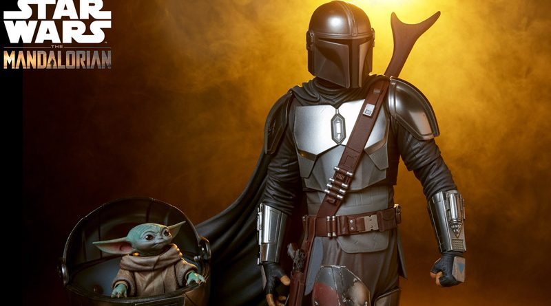 Sideshow PF The Mandalorian and Child Banner