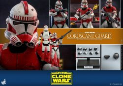 Hot Toys TCW Coruscant Guard Clone Trooper Accessories