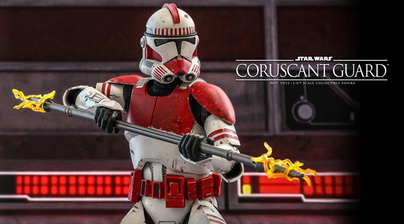 Hot Toys TCW Coruscant Guard Clone Trooper Banner
