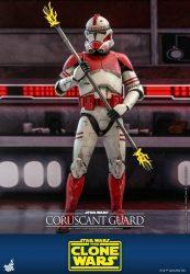 Hot Toys TCW Coruscant Guard Clone Trooper Staff