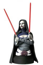 GG Bust Asajj Ventress Cloak Front