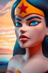 DST L3D JLA Animated Wonder Woman Profile