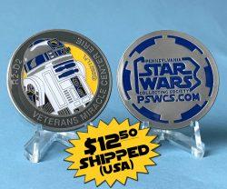 PSWCS VMCE R2-D2 Medallion Shipping